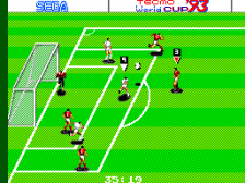 Tecmo World Cup '93 ingame screenshot