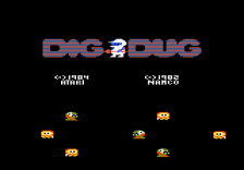 Dig Dug title screenshot