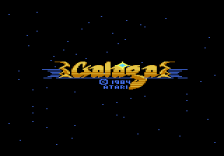 Galaga title screenshot