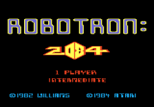 Robotron - 2084 title screenshot