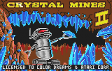 Crystal Mines II title screenshot