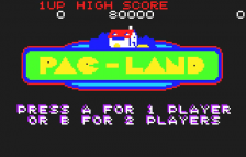 Pac-Land title screenshot