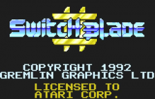 Switchblade II title screenshot