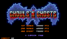 Ghouls'n Ghosts title screenshot