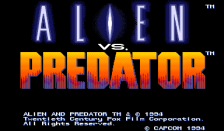 Aliens vs. Predator title screenshot
