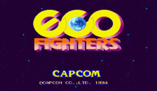Eco Fighters title screenshot