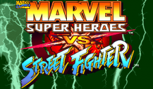 Marvel Super Heroes Vs. Street Fighter title screenshot