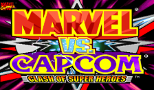 Marvel Vs. Capcom : Clash of Super Heroes title screenshot