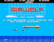 Airwolf title screenshot