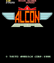 Alcon - Slap Fight title screenshot