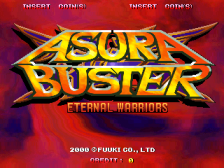 Asura Buster - Eternal Warriors title screenshot