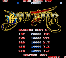 Black Tiger title screenshot