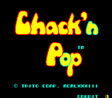 Chack'n Pop title screenshot