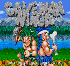 Caveman Ninja : Joe & Mac title screenshot