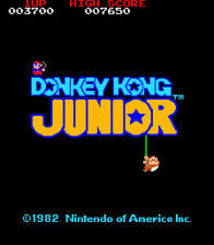 Donkey Kong Jr. title screenshot