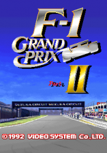 F-1 Grand Prix Part II title screenshot