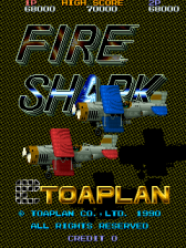 Fire Shark title screenshot