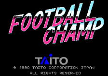 Football Champ title screenshot