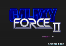 Galaxy Force 2 title screenshot