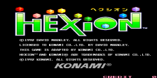 Hexion title screenshot