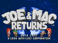 Joe & Mac Returns title screenshot