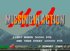 M.I.A. - Missing in Action title screenshot