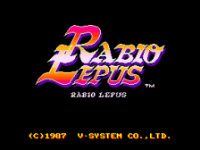 Rabio Lepus title screenshot