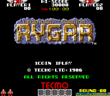 Rygar title screenshot