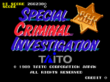 Special Criminal Investigation title screenshot