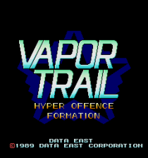 Vapor Trail : Hyper Offence Formation title screenshot