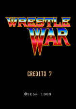 Wrestle War title screenshot