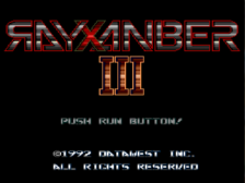 Rayxanber III title screenshot