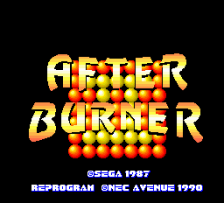 After Burner II title screenshot