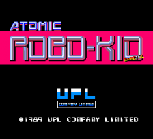 Atomic Robo-Kid Special title screenshot