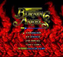 Burning Angels title screenshot