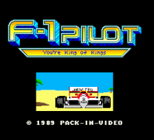 F-1 Pilot - You're King of Kings title screenshot