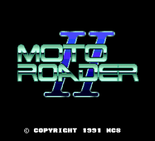 Moto Roader II title screenshot