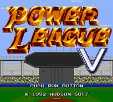 Power League V title screenshot