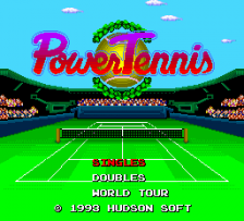Power Tennis title screenshot