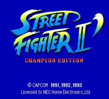 Street Fighter II' - Champion Edition title screenshot