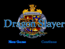 Dragon Slayer - The Legend of Heroes title screenshot