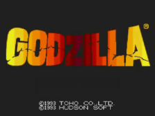 Godzilla title screenshot
