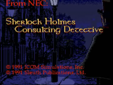 Sherlock Holmes Consulting Detective title screenshot