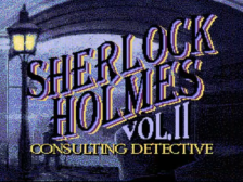 Sherlock Holmes Consulting Detective Vol. 2 title screenshot