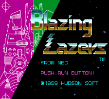 Blazing Lazers title screenshot