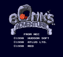 Bonk's Adventure title screenshot