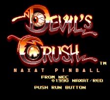 Devil's Crush - Naxat Pinball title screenshot