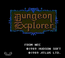 Dungeon Explorer title screenshot