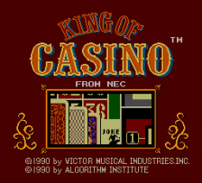 King of Casino title screenshot