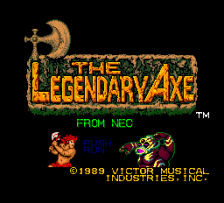 Legendary Axe, The title screenshot